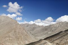 Beautiful landforms in Ladakh Royalty Free Stock Photos