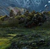 Beautiful Landmannalaugar landscape royalty free stock photography
