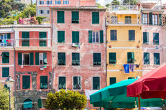 The Beautiful Lands of Cinque Terre. Magical European Village overlooking the sea Royalty Free Stock Photo