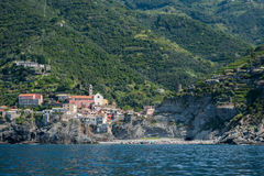 The Beautiful Lands of Cinque Terre. Magical European Village overlooking the sea Stock Photo