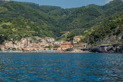 The Beautiful Lands of Cinque Terre. Magical European Village overlooking the sea Stock Photography