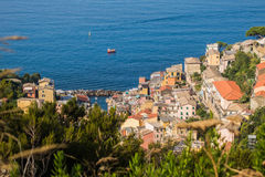 The Beautiful Lands of Cinque Terre. Magical European Village overlooking the sea Royalty Free Stock Images