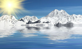 Beautiful landscape. Made in 3d max Royalty Free Stock Photo