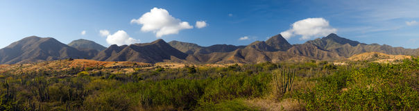 Beautiful landscape. Panoramic photo of a landscape in Venezuella, Margarita island Royalty Free Stock Photo