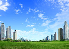 Beautiful landscape. And skyscraper in city Royalty Free Stock Images