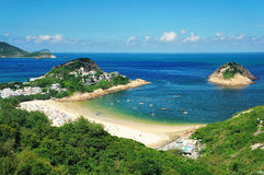 Beautiful landscape. In the south of Hong Kong Royalty Free Stock Image