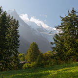 Beautiful landscape in alpine mountains near the Mont Blanc Royalty Free Stock Photos