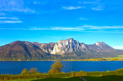 Beautiful landscape with Alps, Salzburger Land, Austria. Beautiful landscape with Alps at Salzburger Land, Austria Stock Images