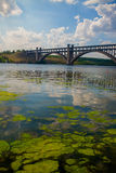 Beautiful landscape with arched bridge Royalty Free Stock Photos