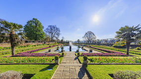 Beautiful landscape around Hyde Park. London, United Kingdom Royalty Free Stock Image