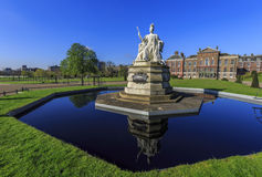 Beautiful landscape around Hyde Park. Beautiful Queen Victoria Statue around Hyde Park, London, United Kingdom Stock Photo
