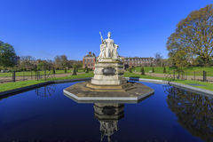 Beautiful landscape around Hyde Park. Beautiful Queen Victoria Statue around Hyde Park, London, United Kingdom Royalty Free Stock Photography