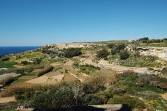 Beautiful landscape atBahrija in Malta. Beautiful landscape and scenery at Bahrija in Malta Stock Photo