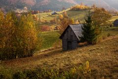 Beautiful landscape in autumn season with amazing colors. Simon, royalty free stock image