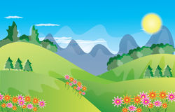 Beautiful landscape background Vector Royalty Free Stock Image