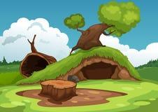 Beautiful landscape background vector Stock Photo