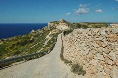 Beautiful landscape at Bahrija in Malta. Beautiful landscape and scenery at Bahrija in Malta Royalty Free Stock Photo