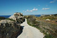 Beautiful landscape at Bahrija in Malta. Beautiful landscape and scenery at Bahrija in Malta Stock Photo
