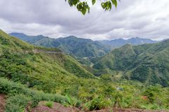 Beautiful landscape in Banaue road. Philippines Stock Photos