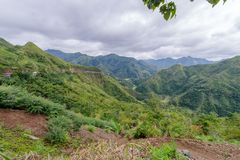 Beautiful landscape in Banaue road. Philippines Stock Images