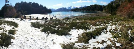 A beautiful landscape in Bariloche, Argentina royalty free stock image