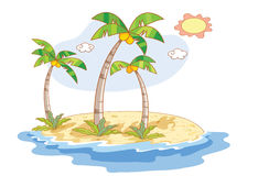 Beautiful landscape beach cartoon Royalty Free Stock Photos