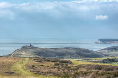Beautiful landscape of Beachy Head area in England Royalty Free Stock Images