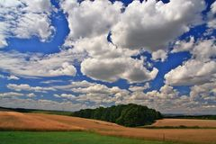 Beautiful  landscape and beauty clouds Royalty Free Stock Images
