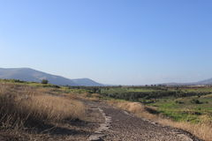 Beautiful landscape in Beit She'an national park, Israel Stock Photography