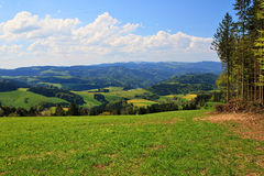 Beautiful landscape in the Black Forest in Germany. Hiking through beautiful nature and landscape in the Black Forest in Germany Stock Images