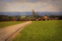 Beautiful landscape in the Black Forest in Germany. Hiking through beautiful nature and landscape in the Black Forest in Germany Royalty Free Stock Photos