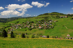 Beautiful landscape in the Black Forest in Germany. Hiking through beautiful nature and landscape in the Black Forest in Germany Royalty Free Stock Images