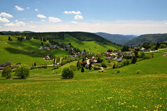 Beautiful landscape in the Black Forest in Germany. Hiking through beautiful nature and landscape in the Black Forest in Germany Royalty Free Stock Photography