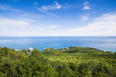 Beautiful landscape of Black sea coastline Stock Photo