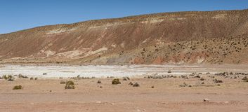 The beautiful landscape of Bolivia along the road to Oruro royalty free stock photos