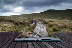Beautiful landscape of Brecon Beacons National Park  Royalty Free Stock Photography