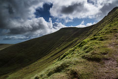Beautiful landscape of Brecon Beacons National Park with moody s Royalty Free Stock Photography