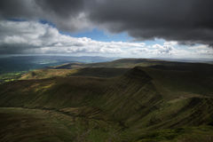 Beautiful landscape of Brecon Beacons National Park with moody s Royalty Free Stock Image