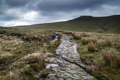 Beautiful landscape of Brecon Beacons National Park with moody s Stock Images