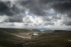 Beautiful landscape of Brecon Beacons National Park with moody s Stock Image