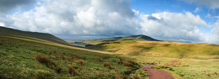 Beautiful landscape of Brecon Beacons National Park with moody s Stock Photos