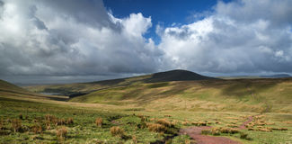 Beautiful landscape of Brecon Beacons National Park with moody s Stock Photography