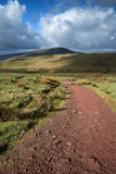 Beautiful landscape of Brecon Beacons National Park with moody s Royalty Free Stock Photo