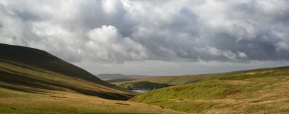 Beautiful landscape of Brecon Beacons National Park with moody s Royalty Free Stock Images