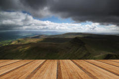 Beautiful landscape of Brecon Beacons National Park with moody s Stock Photo
