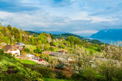 Beautiful landscape of a built area Royalty Free Stock Photo