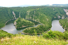 Beautiful landscape of the Canyon of the River Uvac in Serbia stock image