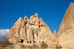 Beautiful landscape Cappadocia abandoned castle Stock Photo