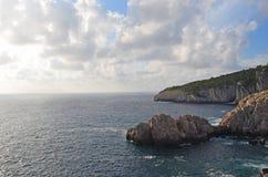 Beautiful landscape in Capri. Beautiful view of Capri in Italy stock photos