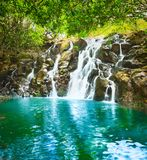 Beautiful landscape. Cascade Vacoas waterfall. Mauritius. Beautiful landscape. Scenic Cascade Vacoas waterfall. Mauritius island Royalty Free Stock Photos
